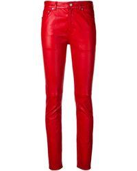 Saint Laurent Slim-fit Pants - Red