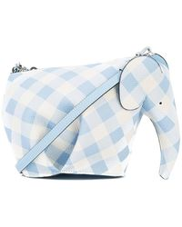 Loewe - Elephant Gingham Mini Bag - Lyst