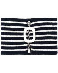 JW Anderson - Zipped Striped Neckband - Lyst