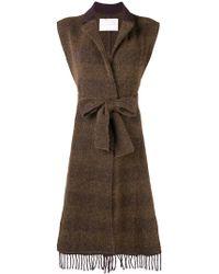 Fabiana Filippi - Belted Sleeveless Cardi-coat - Lyst