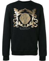 Billionaire - Metallic Print Sweatshirt - Lyst