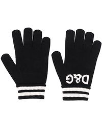 Dolce & Gabbana - Intarsien-Handschuhe mit Logo - Lyst