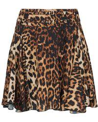 we11done - High Waisted Leopard Print Mini Skirt - Lyst