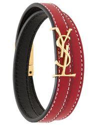 Saint Laurent - Monogram Wrap Bracelet - Lyst