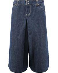 Comme des Garçons - Wide-legged Cropped Jeans - Lyst
