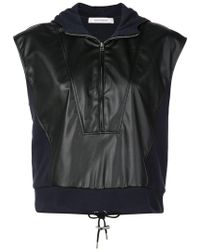 Cedric Charlier - Front Zipped Sweatshirt - Lyst