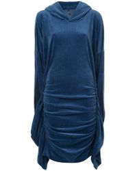 Paula Knorr - Ruched Hooded Dress - Lyst