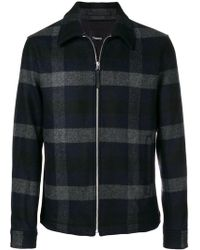 Theory - Checked Shirt Jacket - Lyst