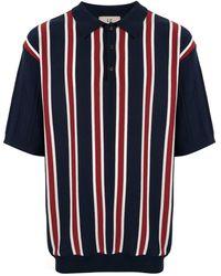 Loveless - Striped Polo Shirt - Lyst