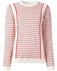 Marni - Striped Sweatshirt - Lyst