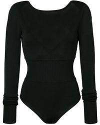 Diane von Furstenberg | Long-sleeve Knit Bodysuit | Lyst