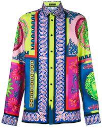 Versace - Chemise à mélange de motifs - Lyst