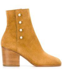 Maison Margiela - Studded Ankle Boots - Lyst