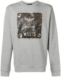 MCM - Metallic Logo Print Sweatshirt - Lyst