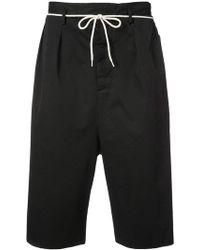 Maison Margiela - Drawstring Drop Crotch Shorts - Lyst