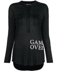 Thomas Wylde - Game Over Printed Top - Lyst