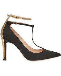 pointed ankle logo pumps - Black Fendi fgO1G