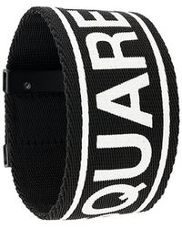 DSquared² - Logo Print Bracelet - Lyst