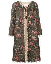 Shirtaporter - Floral Fitted Coat - Lyst