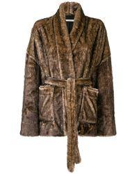 Mes Demoiselles - Fuzzy Robe Coat - Lyst