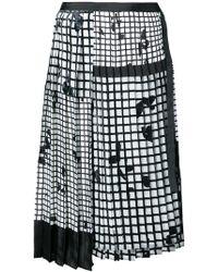 Sacai - Geometric Pleated Skirt - Lyst