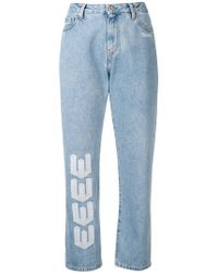 Off-White c/o Virgil Abloh - Printed Straight-leg Jeans - Lyst