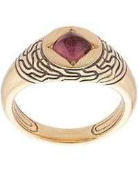 John Hardy - Adwoa Aboah 18kt Yellow Gold And Tourmaline Classic Chain Pinky Signet Ring - Lyst