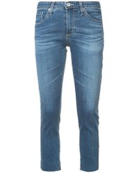 AG Jeans - Cropped Skinny Jeans - Lyst
