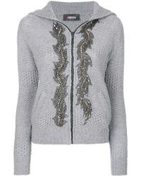 Jo No Fui - Embellished Hooded Cardigan - Lyst