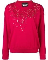 Boutique Moschino - Long-sleeve Fitted Jumper - Lyst