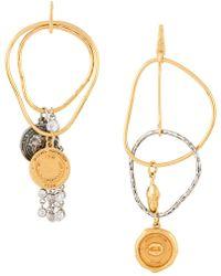 Sonia Rykiel - Asymmetric Coin Earrings - Lyst