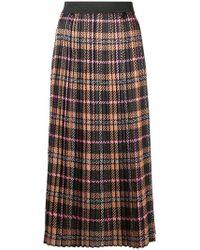 Liu Jo - Pleated Macro Tartan Skirt - Lyst