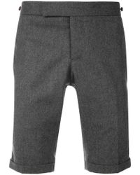 Thom Browne - Pantalones cortos con franjas - Lyst