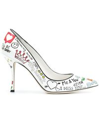 Dolce & Gabbana - Lori Mural Printed Court Shoes - Lyst