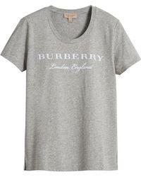 Burberry - Logo Print T-shirt - Lyst