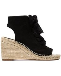 Chloé - Harper 70 Suede Wedge Sandals - Lyst