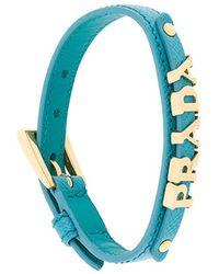 Prada - Logo Charm Bracelet - Lyst