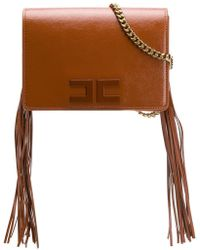 Elisabetta Franchi - Tasseled Cross Body Bag - Lyst