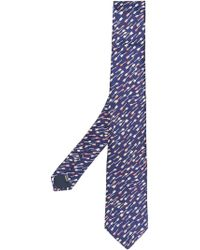 Lanvin - Corbata con motivo de flechas - Lyst