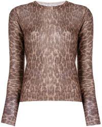 Max Mara - Leopard Print Knitted Top - Lyst