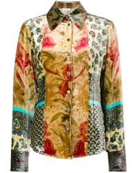Pierre Louis Mascia - Embroidered Long-sleeve Top - Lyst