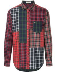 Education From Young Machines - Patchwork Plaid Shirt - Lyst
