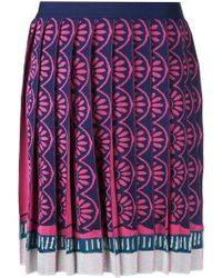 Mary Katrantzou - Exene Knitted Knife Pleat Skirt - Lyst