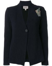 Armani - Printed Button Blazer - Lyst