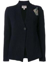 Armani - Printed Button Blazer - Lyst