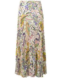 Etro - Print Pleated Maxi Skirt - Lyst