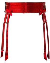 Bordelle - Bow detail suspender - Lyst
