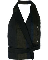 Andrea Ya'aqov - Backless Asymmetric Waistcoat - Lyst