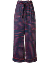 Facetasm - Polka Dots wide-legged Trousers - Lyst