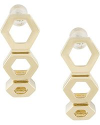Astley Clarke - Plain Triple Honeycomb Stud Earrings - Lyst